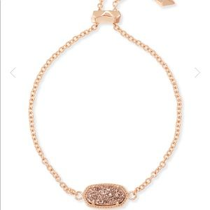 Kendra Scott Elaina rose gold drusy bracelet